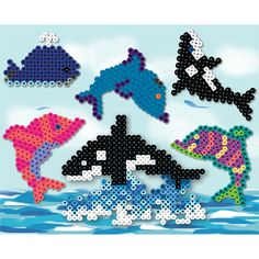 Create colorful dolphins, breaching and spouting whales, all from Perler Beads. It's a whale of a good time!