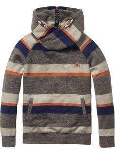 Sudadera con capucha retorcida | Suéter | Ropa para niño en Scotch & Soda