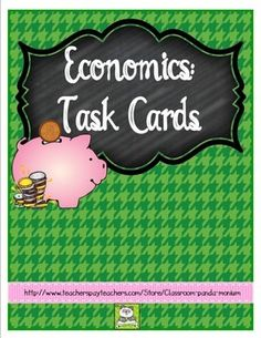 These task cards are great for Georgia third grade teachers teaching Economics or any elementary teacher teaching economics. These task cards address the third grade Georgia social studies standards for economics.economics topics include:wants vs. needsresources-human, natural, capitalgoods vs.