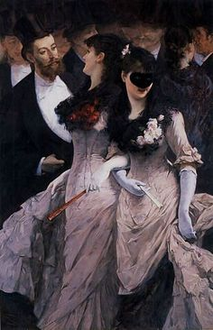 """""""At the Masquerade"""" by Charles Hermans (1839-1924)."""