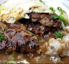 The Hawaiian Loco Moco.  Must try..  (click the photo for the recipe)