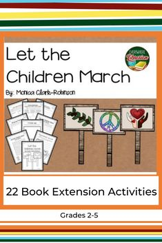 Activities to use with the book Let the Children March (book can be found at public library) Upper Elementary Resources, Elementary School Library, Elementary Teacher, Elementary Schools, Library Activities, Teaching Activities, Classroom Activities, Teaching Ideas, Classroom Ideas