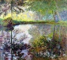 Claude Monet, Etang à Montgeron, 1876 on ArtStack #claude-monet #art