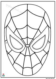 ausmalbild den spinnenmann maske masken