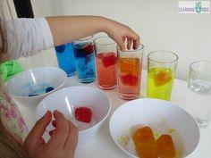 Игры с цветным льдом (смешивание цветов):