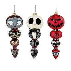 NIGHTMARE BEFORE CHRISTMAS DISNEY 3-PC ORNAMENT SET  | the Nightmare Before Christmas Collectionary