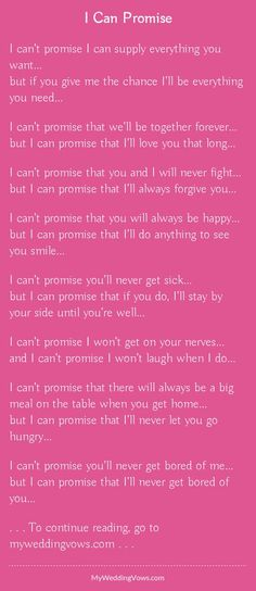 Super Wedding Vows To Husband Marriage Words I Promise 21 Ideas Funny Wedding Vows, Wedding Vows To Husband, Wedding Poems, Wedding Humor, Long Love Quotes, Meant To Be Quotes, Love Quotes For Him, Vows Quotes, Proposal Quotes