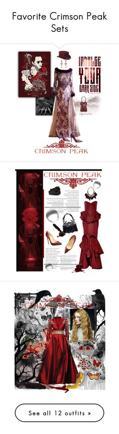 """Favorite Crimson Peak Sets"" by claireivry ❤ liked on Polyvore featuring Overland Sheepskin Co., Lydia Courteille, Henri Lepore Dezert, Perrin, vintage, Zac Posen, Christian Dior, Christian Louboutin, CrimsonPeak and Ben-Amun"
