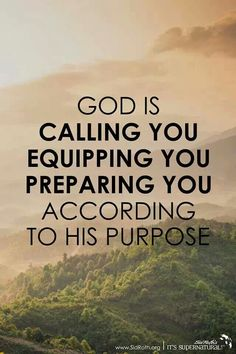 GOD IS GETTING YOU READY TO FULFILL HIS PURPOSE