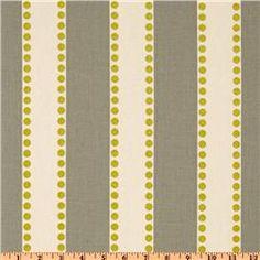 Premier Prints Lulu Stripe Summerland Natural. Fabric Weight:  medium weight.