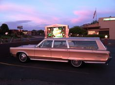 1967 Chrysler Town and Country. '67 looked pretty good...  Red Planet Diner