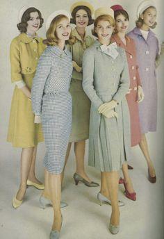 Pastel vintage my style fashion, mad men fashion at fa Moda Vintage, Moda Retro, Vintage Mode, Vintage Ladies, Sixties Fashion, Retro Fashion, Vintage Fashion, Sporty Fashion, Pastel Fashion