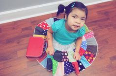 polka dots  twirl patchwork tier toddler by GenerationsInStyle, $28.00  goes with any top!