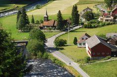 Iglesia en Flaam (25-6-2008) - village in Norway