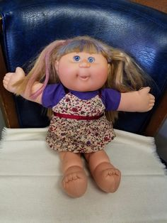 CABBAGE PATCH KID Clothes CPK GIRL Blonde Blue HAIR Eyes 2004 Xavier Roberts PA7 | eBay