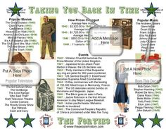 1940s Party Favor or for a 70th Birthday Poster,  This print is for a Forties World War II Themed Party , Includes Personalized Message and