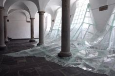 Taking the interior of the Brauweiler Abbey in Germany as hiscanvas and glass and paint as his materials,Aerial byBaptiste Debombourg is nothing short of impressive. Intimidating the flow of wat...