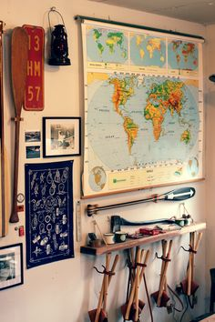 sanborncanoecompany:  Our wall of assorted things is filling up… www.sanborncanoe.com