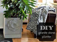 DIY granite stone planter by Art Decoration & Crafting