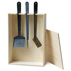 lovely modern fire place utensils...