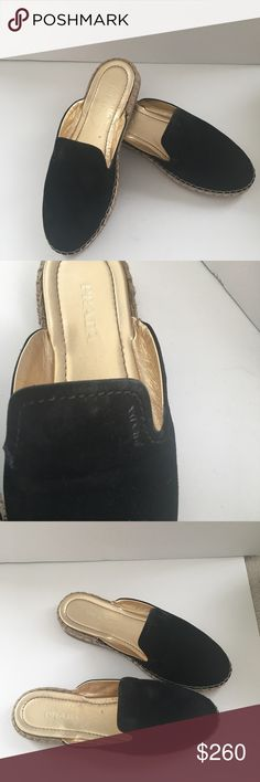 874e270782fbd Black Prada espadrilles slip ons Prada espadrilles in great condition. Worn  a handful of times. Size fit true to size Prada Shoes Espadrilles