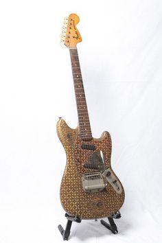 "Cargo cult custom: A Fender Mustang hand painted by Haryo ""Kongko"" Sasongko www.facebook.com/haryo.sasongko2"