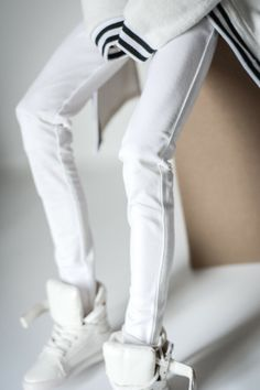 White Bathrobe Long Coat Outfits For Male 70CM BJD SD17 Uncle  AOD DOD Doll GW