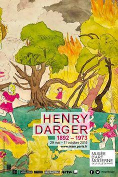 Henry Darger . Le musée d'Art moderne de la Ville de Paris consacre une exposition à l'une des figures mythiques du XXe siècle : Henry Darger (1892-1973).  Le parcours recrée le monde imaginaire de l'artiste, reconnu aujourd'hui comme l'un des représentants majeurs de l'art brut. Se monde, singulier et étrange, mêle imaginaire, récit historique et culture populaire américaine.  29 May - 11 Octobre 2015