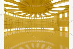 yellow interior empty creativemarket