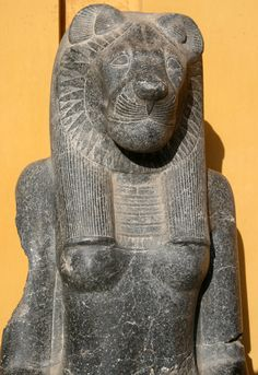 Statue of Goddess Sekhmet currently in the Vatican Museum. - SEKHMET, egyptian goddess, represented with the head of a lioness and a woman's body and on her head a sun disk, the head of lion is a symbol of strength and power to destroy enemies.