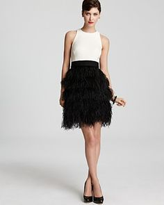 Milly Feather Dress - Sasha   Bloomingdale's