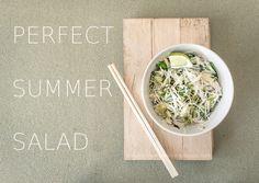 Miso dressing and refreshing asian salad