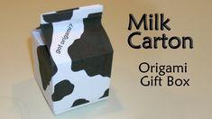 Origami Milk Carton Gift Box by Makoto Yamaguchi