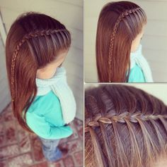Simple and lovely mermaid braid Baby Girl Hairstyles, Princess Hairstyles, Pretty Hairstyles, Braided Hairstyles, Perfect Hairstyle, Young Girls Hairstyles, Toddler Hairstyles, Hair Dos, Hair Designs