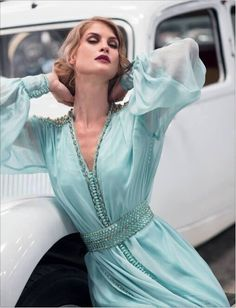 Modern Caftan with a twink to vintage - Maroc Désert Expérience tours http://www.marocdesertexperience.com