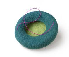 Bibi mini béret vert petit chapeau fascinator pour par IssaFelt