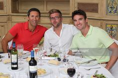 Tav Macdougal (L) and Thom Evans (R) attend the Global Gift Gala - Celebrity Golf Tournament 2013 at La Quinta Golf Resort and Country Club on August 3, 2013 in Marbella, Spain.