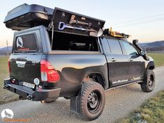 Toyota Hilux Revo rear Steel bumper Alucab 2016 2017 Blackwolf offroad overland expedition T-Max Hil-ift ARB Frontrunner Rocksliders Roofrack Rival skidplate James Baroude Discovery Awining Markise bfgoodrich TJM Sknorkel Toyota Hilux, Toyota 4x4, Toyota Trucks, Truck Cap Camping, Ute Camping, Hunting Truck, Truck Bed Liner, Airstream Travel Trailers, Truck Caps