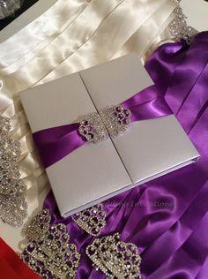 Ivory Silk Invitation Box / Gatefold Invitation / by BoxedWedding