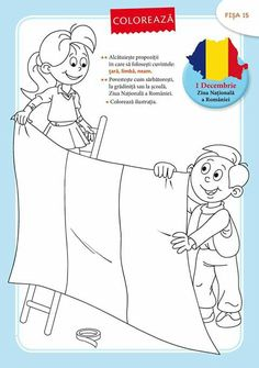 Copii cu steag #romania #decolorat #coloringpages #drawings #children #kids #kidsactivities #freeprintable Preschool Writing, Teaching Kindergarten, Adult Coloring Pages, Coloring Books, Transylvania Romania, Animal Crafts For Kids, Teacher Supplies, Projects For Kids, Kids And Parenting