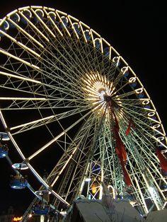 Ferris wheel: Lille, France / photo by usuimtl Ferris Wheels, France Photos, Carousels, Swings, Places Ive Been, Fair Grounds, Wanderlust, Night, Travel