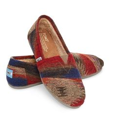 TOMS Classics in brushed wool with a heritage pattern, for the lodge, cabin or campus.