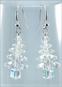Wintry Crystal Swarovski Christmas Tree Earrings | DIY Jewelry-making Project Kit