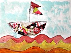 Art and Literacy Project: Arthur's Dream Boat Grade by Josey's Art School Drawing Lessons, Art Lessons, Underwater Theme, Joy Art, Circus Theme, Popular Books, Art School, First Night, Pink And Green