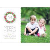 Holiday Wreath Horizontal Photo Card   #whhostess