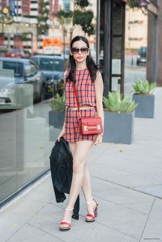 Harlyn the Labe, Matching Separates, Sophie Hulme Crossbody Bag, Summer Style, Los Angeles Fashion Blogger, Lisa Valerie Morgan, Pretty Little Shoppers Blog, Actress and Blogger, Tommy Hilfiger Sandals