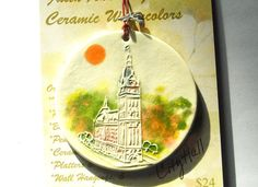 CITY HALL ORNAMENT Milwaukee Downtown by FaithAnnOriginals on Etsy