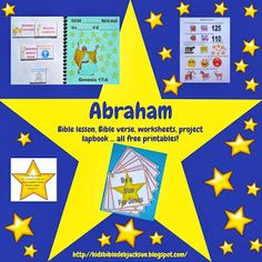 Bible Fun For Kids: Genesis: Abraham & Sarah Bible Verses For Kids, Bible Stories For Kids, Bible Crafts For Kids, Bible Study For Kids, Preschool Bible, Bible Lessons For Kids, Children's Bible, Abraham In The Bible, Story Of Abraham
