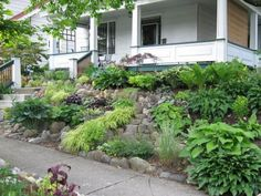 This is what I want to do with the slope at the front of our yard.