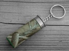 Green Hunting Camo Shotgun Shell Keychain Mossy Oak Realtree by Ink and Roses 13